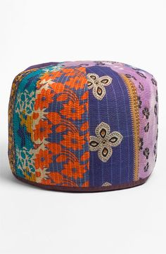 Nordstrom at Home Kantha Pouf available at Nordstrom
