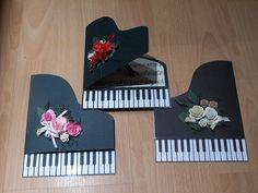 silhouette cameo - piano card