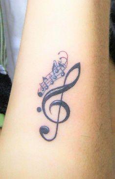 Music tattoo - Musik Tattoos - Tattoo Designs for Women Small Music Tattoos, Music Tattoo Designs, Tattoo Designs For Girls, Henna Tattoo Designs, Diy Tattoo, Tattoos For Women Small, Mehndi Tattoo, Pretty Tattoos, Beautiful Tattoos