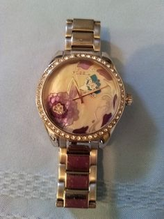 Women's Fossil Watch # ES-2240 Flower Design Needs New Battery  #Fossil #Casual