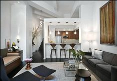 Image result for small open plan kitchen living room