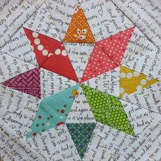Threadbias: Rainbow Star by Ellisonlanequilts