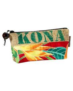 Tommy Bahama - Burlap Coffee Zipper Pouch Handmade in Hawaii from repurposed kona coffee bags.