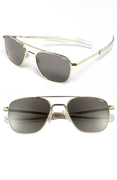 Men's Randolph Engineering 55mm Aviator Sunglasses - Gold/ Grey