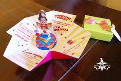 Convite Circo Caixa Surpresa - Menina