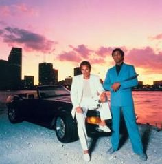 Miami Vice--Crockett and Tubbs: Solving crime without socks, with lots of Don Henley music in the background.