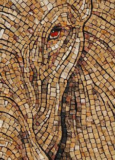 An Exceptional Classical Mosaic: Elephant Eye by Sandra Groeneveld | Mosaic Art NOW