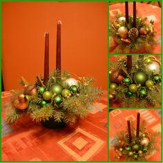 Green christmas table centerpiece