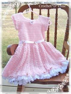 Pretty In Pink Crochet Dress with pettiskirt