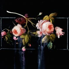 Ted Pim (Northern Irish): Oil Painting, Abstract Floral