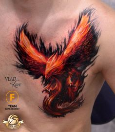 Foto Tätowierung Vladislav Filimonov - Phoenix Tattoo - Amazing Garden Ideas - DIY Home Accents - Hairstyle For Long - DIY Jewelry Tutorial Rising Phoenix Tattoo, Phoenix Tattoo For Men, Phoenix Bird Tattoos, Phoenix Tattoo Design, Feather Tattoos, Dope Tattoos, Badass Tattoos, Body Art Tattoos, Small Tattoos