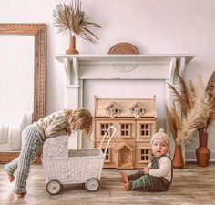With the right pram, your baby {even the doll kind} will sleep soundly, always. Play Spaces, Kid Spaces, Magical Bedroom, Nursing Chair, Book Baskets, Rattan Basket, Cute Toys, Chairs For Sale, Imaginative Play