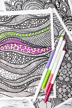 alisaburke- new coloring pages in the shop