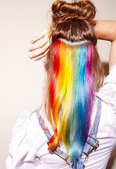 Carla Rinaldi, a pro colorist at London's Not Another Salon, came up with a way for us all to have rainbow hair on the DL. Let's just say it's gone viral.