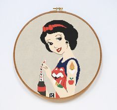 Snow White Cross Stitch Pattern, Modern Disney Princess Cross Stitch Pattern, Counted Easy Cross Stitch Chart, PDF Format, Instant Download