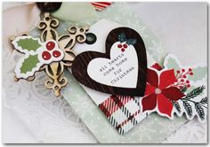 Christmas Tag Set by Melissa Phillips Supplies: Comfort & Joy 6x6 Paper Pad by My Mind's Eye Comfort & Joy 12x12 Chipboard E...