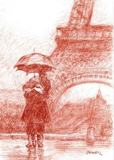 I'll always think of the October rain in Paris.