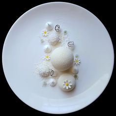 """Snow White"" - White chocolate mousse, coconut mousse, yuzu jelly, lychee jelly, coconut dacquoise and meringue by @lvin1stbite #GourmetArtistry"
