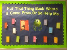 Sexual Assault Awareness bulletin board based on Monsters, Inc.