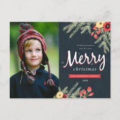 Winter Foliage Holiday Photo Postcard: Winter Foliage Holiday Photo Postcardby origamiprints Christmas Photo Cards, Christmas Greeting Cards, Christmas Photos, Photo Greeting Cards, Holiday Cards, Christmas Greetings, Custom Postcards, Photo Postcards, Holiday Postcards