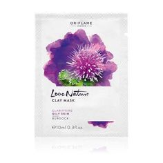 4x10ml, Love Nature Clay Mask Burdock,Oriflame