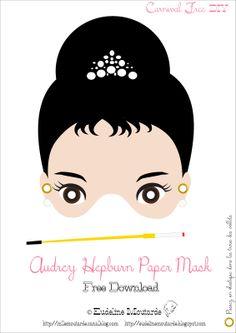 Masker: Audrey Hepburn by Eudeline Mosterd: mei 2012