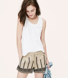 Loft shorts with white T