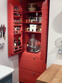door racks on bespoke kitchen pantry cupboard