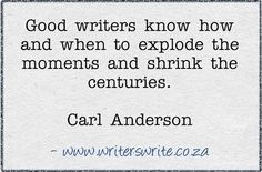 Quotable - Carl Anderson - Writers Write Creative Blog