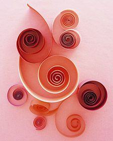 """Holiday Ideas- Quilling Valentines. A elegant, easy and inexpensive technique that can also be used for snowflakes or other designs. Makes a great decoration or """"rainy day"""" idea."""