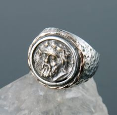 Ancient Coin Ring - Macedonian Coin - Sterling Silver - men & women coin jewelry