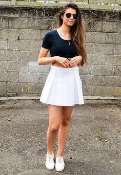 5973d5c737fab Vintage 70s White Tennis Skirt