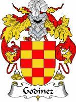 Godinez Coat of Arms / Godinez Family Crest  The Italian surname of GODINEZ was a baptismal name 'the son of Godwin' an early font name, alt...