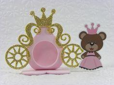 Porta Bombom carruagem Ursinha Princesa aplique - cortes para Montar www.petilola.com.br