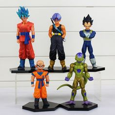 5pcs/set Dragon Ball Z Action Figure Toys Goku Krillin Vegeta Trunks Freezer PVC Action Figure Toys Dolls 12~18cm Retail 1pcs #Affiliate