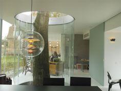 Belgian designer Maarten Van Severen designed this garden glass pavilion.