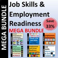 Job Skills And Employment Readiness MEGABUNDLE   Save 33%