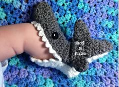 Maglia neonato Baby squalo Slipper Socks on Etsy, €19,53