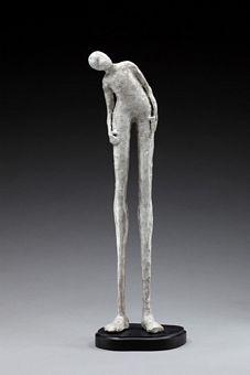 Lorri Acott bronze and raku fired paperclay sculpture