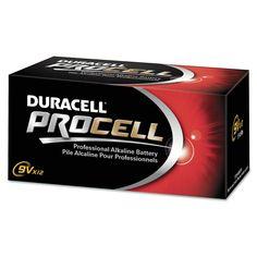 Procell Alkaline Battery, 9-Volt, 12-Pack