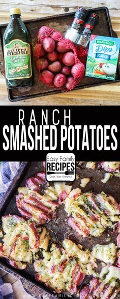 Ranch Smashed Potato