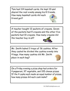 4.OA.3 Multi-Step Word Problems/FREE download: