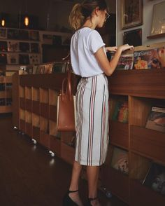 Love the stripes on this skirt