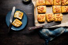 Pumpkin, paprika and pecorino scones