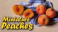 Miniature Peaches - SugarCharmShop YouTube Tutorial