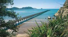 Historic Wharf at Tolaga Bay, New Zealand