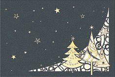 #Weihnachtskarte grau/naturweiß mit filigraner #Laserstanzung #Weihnachtswald, inkl. Kuvert.