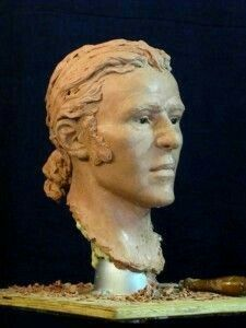 Facial reconstruction of a sailor century). Forensic Facial Reconstruction, Famous People In History, Old Faces, Wax Museum, Forensics, Past Life, World History, 17th Century, Evolution