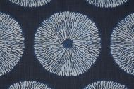 Robert Allen Shibori Sol Printed Cotton Drapery Fabric in Indigo $19.95 per yard