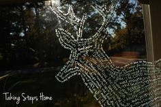 Um, wow. This is a deer silhouette created with Crayola window markers and a traced silhouette of a deer! Amazing!!